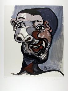 Pablo Picasso Lithograph, Tete de Homme