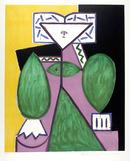Pablo Picasso Lithograph, Femme en Vert et