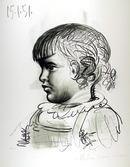 Pablo Picasso Lithograph, Portrait d'Enfant