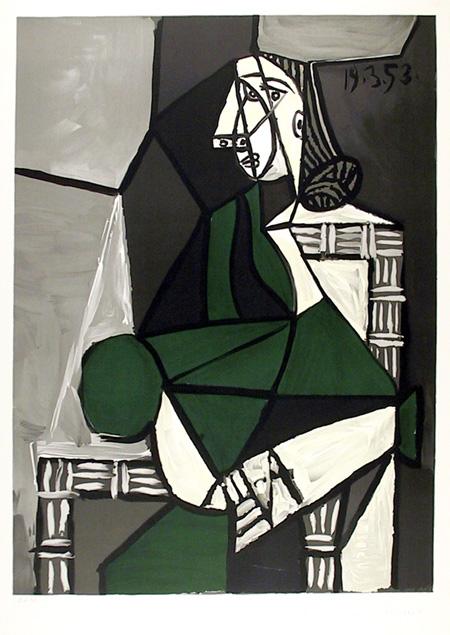 Pablo Picasso Lithograph, Portrait de Femme