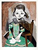 Pablo Picasso Lithograph, Petite fille a la
