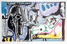 Pablo Picasso Lithograph, Le Peintre Et Son
