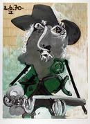 Pablo Picasso Lithograph, Portrait d'Homme
