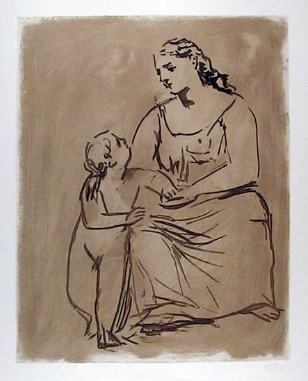 Pablo Picasso Lithograph, Mother and Child