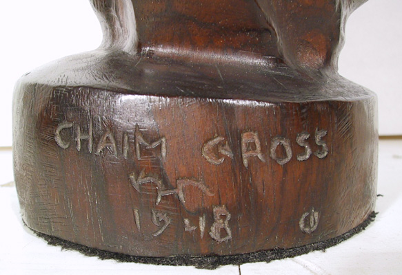 Chaim Gross Original Hand-carved wood
