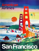 Dong Kingman, Travel Poster American Airlines