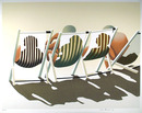 Hava Raucher, The Beach Group, Signed Serigraph