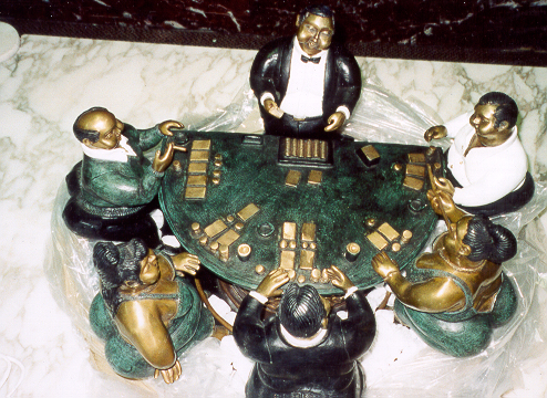 Bruno Luna, Blackjack, Mexican Bronze Sculpture