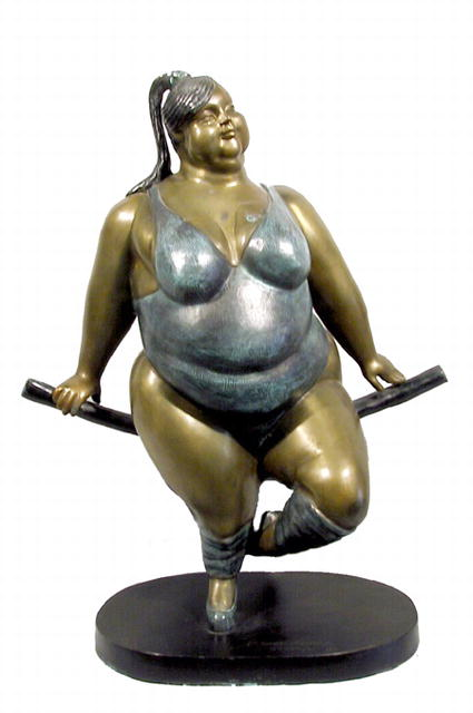 Bruno Luna, Gymnast, Mexican Bronze Sculpture