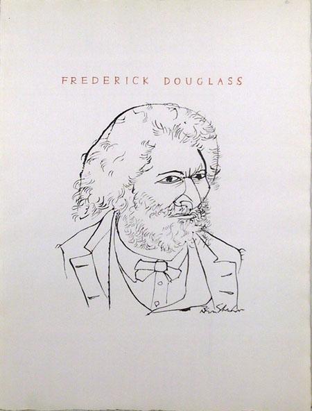 Ben Shahn Lithograph, Frederick Douglas, 1965