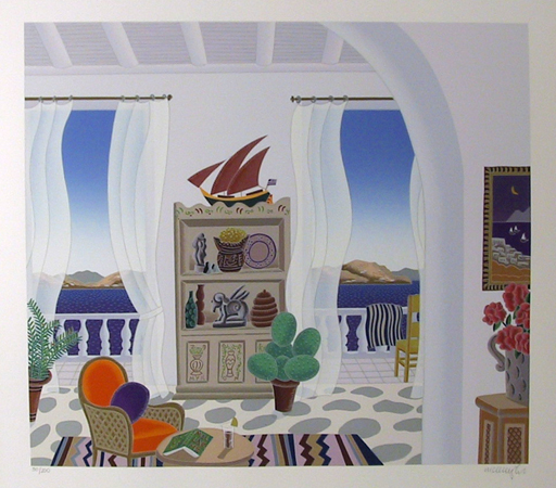 Thomas McKnight, Mykonos, Signed serigraph