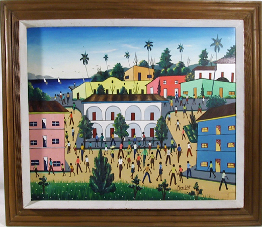 Murak St. Vip, Oil on Canvas Painting Caribbean
