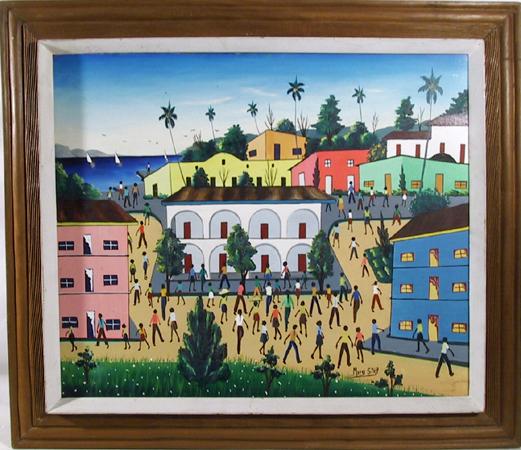 Murak St. Vip, Oil on Canvas Painting Caribbean