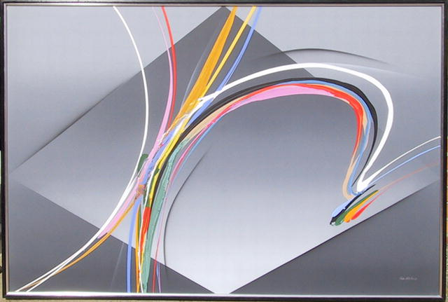 Elba Alvarez, Large Abstract Oil Painting
