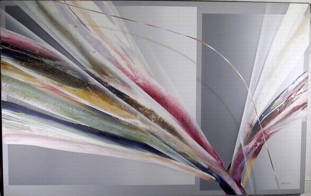 Elba Alvarez, Large Abstract Oil Painting