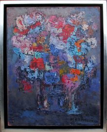 Miriam Bromberg, Flowers, Oil on Canvas