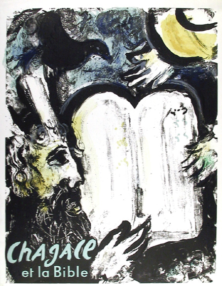 Marc Chagall, Moses and the Tablets of Law