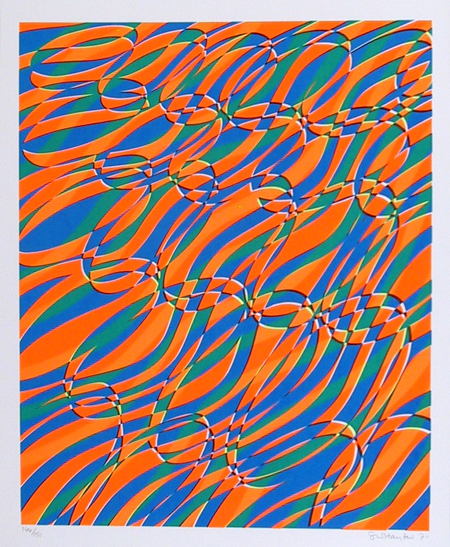 Stanley Hayter, Aquarius, Abstract Silkscreen