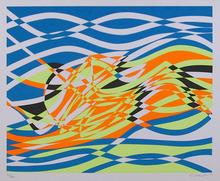 Stanley Hayter, Aquarius, Abstract Silkscreen
