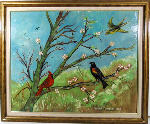 Bresci Thompson Cardinals, Oil Painting