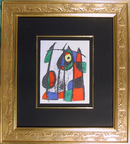 Joan Miro Framed Lithograph 1974