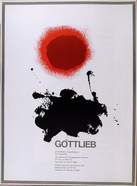 Adolph Gottlieb, Silkscreen Whitney Exhibition