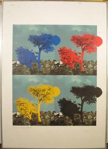Menashe Kadishman S/N Serigraph, c. 1965, Trees