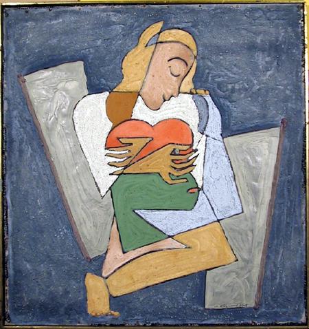 A. Raymond Katz, Mixed Media Painting, c. 1965