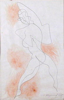 A. Raymond Katz Brush Drawing, Dancer 1933