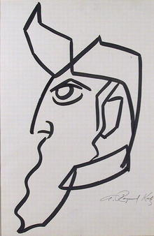 A. Raymond Katz Brush Drawing, c.1965, Moses