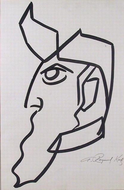 A. Raymond Katz Brush Drawing, c.1965, Moses