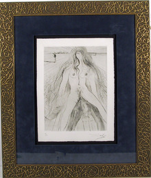 Salvador Dali, Femme a Cheval, Drypoint Etching