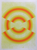 David Simpson, Ovograph, OP Art Serigraph