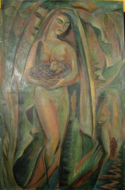 A. Raymond Katz Oil painting, Nude, c. 1949