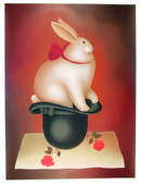 Igor Galanin, Rabbit in Hat, S/N Serigraph