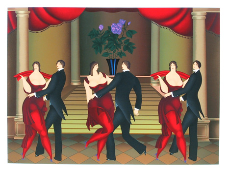 Igor Galanin, Tango Dancers, S/N Serigraph