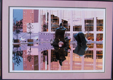 Fran Bull, S/N Silkscreen Print, Lincoln Center