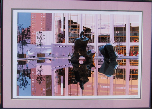 Fran Bull, S/N Silkscreen Print, Lincoln Center
