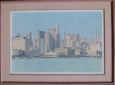 H.N. Han, S/N Silkscreen New York Skyline