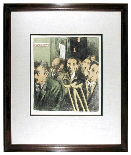 Raphael Soyer, Signed & Numbered Print, c. 1970