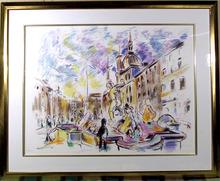 Wayne Ensrud , S/N Lithograph, Piazza Navonna,