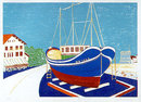 Marion McClanahan, S/N Lithograph,1979, Boat