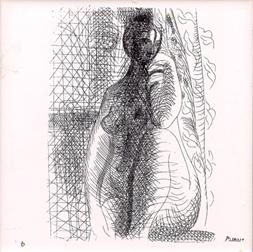Pablo Picasso Ceramic Tile, Nude