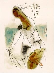 Pablo Picasso Lithograph, 1964, Woman