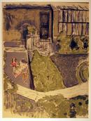 Edouard Vuillard Lithograph, c. 1950, Le Jardin