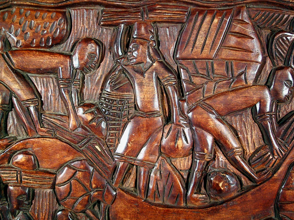 African wood carving Bas Relief