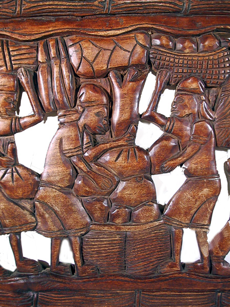 African wood carving Bas Relief 2