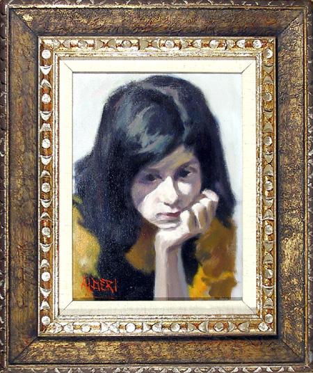 Alfieri Oil Painting, Portrait of a Girl, c.