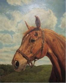 Helene Alison, Oil Painting, Horse Portrait,