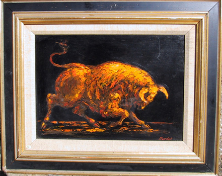 Burdick Oil Painting, Bull, c. 1970
